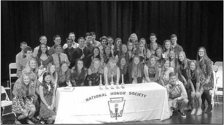 Kewaskum High School  Students Inducted Into  National Honor Society