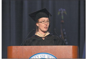 Kewaskum Grad Speaks  At UW-Platteville  Commencement