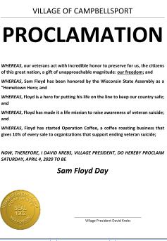Village Declares Sam Floyd Day