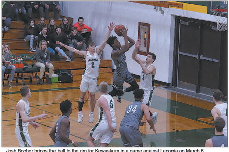 KHS Boys Bow Out Of Tournament At Laconia;   Finish With 11-13 Record