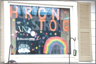 Window Decoration Encourages Horicon To Be Strong