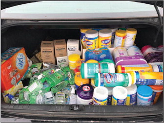 District Donates Extra Supplies To  Dodge County Administrative Team