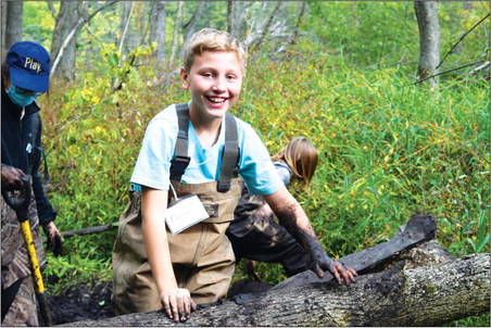 Sixth graders camp to learn